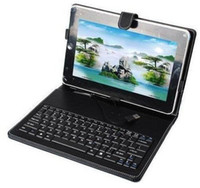 Wholesale 10 Inch leather case keybaord for Android Flytouch Tablet DHL Stylus pen USB Port