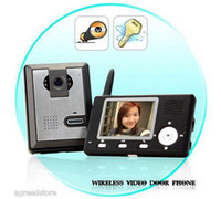 Wholesale 2 GHz Wireless Video Door Phone bell Visual Intercom Entry System Guardian CMOS Sensor