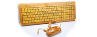 Wholesale Green product Low Carbon Bamboo Keyboard Natural bamboo keyboard with keys from mangotech