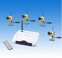 Wholesale DHL FREESHIPPING cameras wireless kit with with remote control W208G4