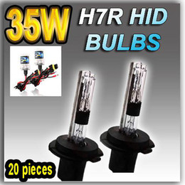 20 PAIRS H7 H7R 12V 35W HID XENON REPLACEMENT LAMPS BULBS LIGHTS 4300K 6000K 8000K 10000K 12000K