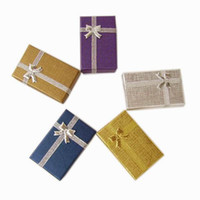 Wholesale 5 x x2 cm Jewelry Packaging Jewelry Box Mixed Group Ring amp Earring Gift Box Gif