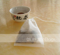 Wholesale eBags Sale Promotion Empty Black Tea Bag mini x6cm Sealed by String Filter paper