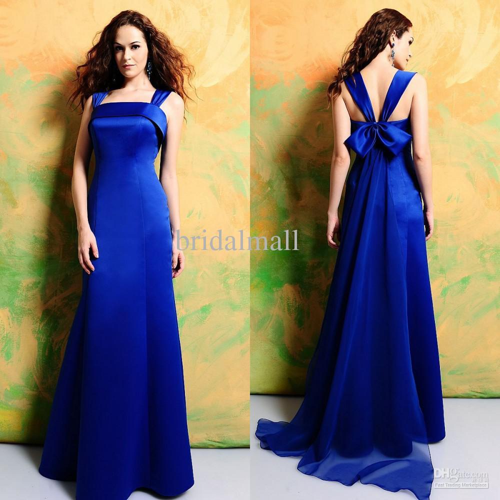 Blue Satin Bridesmaid Dresses