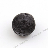 Wholesale 4 string Black Volcanic Lava Gemstone Loose Beads Loose Charms Fit Diy Bracelets mm