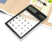 Wholesale Transparent Solar Digital Touch Screen Calculator qualitied all color available
