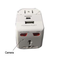 Acheter en ligne Enregistrement vidéo cachée-Facile à prendre, installation, détection de mouvement Enregistrement caméra Universal AC Adapter Caméra cachée Mini enregistreur vidéo covert pour le Home Office