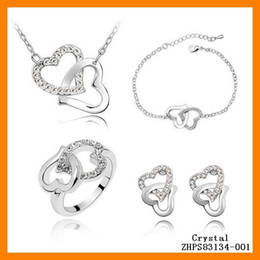 6 sets Lot wholesale Jewelry fashion Crystal sweet love is love Necklaces ZHPS83133