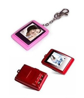 Wholesale Christmas gift inch Mini Digital photo frames portable electronic albums Key Ring chain frame