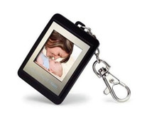 1.5 inch Video Playback Acrylic Christmas gift 1.5 inch Mini Digital photo frames electronic albums of Key Ring retail box 12pcs lot