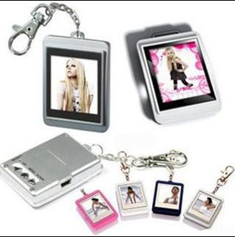 Wholesale Cheap Wholesale Xmas Gifts - 1.5 inch Mini Digital photo frames electronic albums keychain frame cheap Xmas gift free shipping