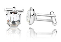 Wholesale Men s jewellery swrski crystal cufflinks best quality mix color order