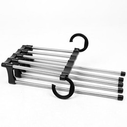 Wholesale Up to Off Five in One Trouser rack coat hanger Cloth hook