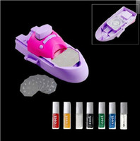 Red   12pcs lot New Arrival DIY Nail Printer, Nail Art Stamping Machine, Nail Makeover Kits, Nail Polisher