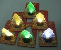 Wholesale 50pcs Christmas tree LED light LED light Christmas card greeting cards