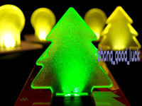 Wholesale 50pcs Christmas tree LED light LED light Christmas card greeting cards