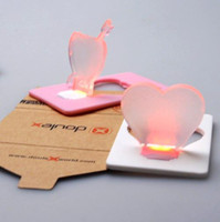 Wholesale LED Christmas lights heart type of card LED light Christmas greeting cards