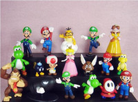 Wholesale Super Mario Bros Figures dolls toys NEW Model Toy Gifts set