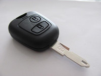 Wholesale 2 button remote key shell for Peugeot without logo