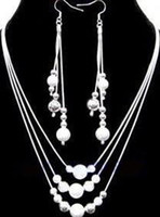 Wholesale lowest price Christmas gift Sterling Silver Fashion Necklace Earrings set S74