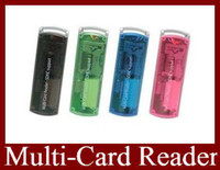 Wholesale EMS Small Spacecraft Mult Card Reader SDHC Support Micro SD TF M2 Memory Stick M2 MINI SD