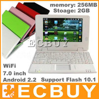 Wholesale Mini inch laptop Android Wifi Via8650 MB GB Nand M Notebook Netbook EPC G Flash10