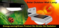 Wholesale Very Brightness solar lights outdoor wall lights stainless steel waterproof Ray Sound Sensor Solar Lamp LED