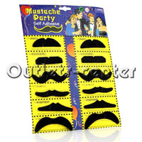 Wholesale 100 Halloween Party Stylish Assorted Fake Mustache Moustache Handlebar Costume Pro Make Up