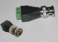 balun coax - 50x Cat5 to BNC Coax Connector Terminal Block Balun Video Connetcor for CCTV Camera