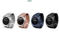 Quad-Band Bar GSM Wholesale - First Stainless Steel Java Watch Phone TW818 QuadBand 1.3M Camera 1.6 Inch Touch Screen