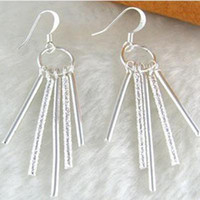 Wholesale High quality New Silver jewelry Pretty Dangle Chandeliers earrings pairs