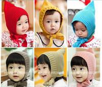 Girl Spring / Autumn Newborn Hat christmas baby knit caps hfairy Wind bucket hat baby hats Baby warm hats Children winter cap