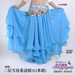 Wholesale New belly dance Costume Three layers skirt Colours