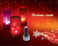 Candle electronic candle - LED Candle Color Change Remote Sound Control Lights Electronic Frosted Material