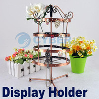 Wholesale Christmas Holes Rotating Earrings Metal Jewelry Display Stand Rack Holder Organizer Stand