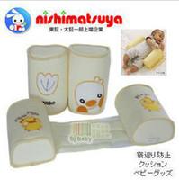 Rectangle baby sleep comforter - 8pcs Nissen Yellow Prevention Pillow Kids Comforter Sleeping Infant Shaped Rollover Baby Pillows