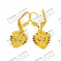 Wholesale Classy K Solid Yellow Gold Filled Heart Dangle Earring