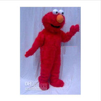 Wholesale Elmo Mascot Costume Halloween Adult Fur Costume Cartoon Fancy Dress kids party Halloween
