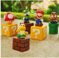 Free shipping High Quality PVC 5 Super Mario Bros Action Fig...