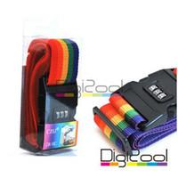 Wholesale Rainbow Travel Luggage Suitcase Secure Lock Safe Belt Strap m YA1860 freeshipping