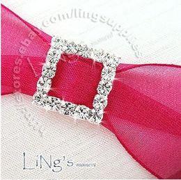 Wholesale-quanlity guarantee!Lowest price! 100pc 10mm Square A-Grade Rhinestone Buckle Ribbon Slider