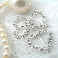 Wholesale quanlity guarantee Lowest price pc mm Heart A Grade Rhinestone Buckle Ribbon Slider