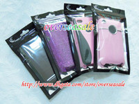 Wholesale 18 Alum Black Zip Zipper Plastic Retail Package Packing bag bags Pouch for iphone GS G S S S2 hard Soft Case cover cases