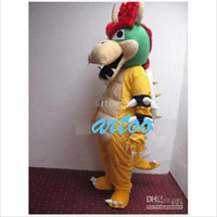 Wholesale Super Mario Bros King Bowser Mascot Costume Adult Size New Year Christmas Halloween