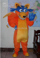 Wholesale Adult Size Dora s Friend Swiper Fox Mascot costume High Quality Party Dress