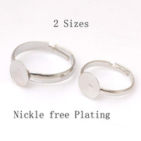 Wholesale 100 Silver Plated Adjustable Flat Ring Pad Bases Blanks fashion jewelry rings charm rings Pad