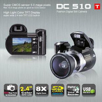 Wholesale Christmas DC510T dc510t inch TFT MP x Digital Camera Video Camcorder DC500Tupgrade to DC510T