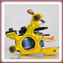Yellow color Tattoo Machine Gun 10 Wrap Coil