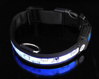 Wholesale Pet LED collars pet supplies dog colourful LED collars hot selling