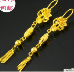 hot selling women 24k yellow gold filled earings